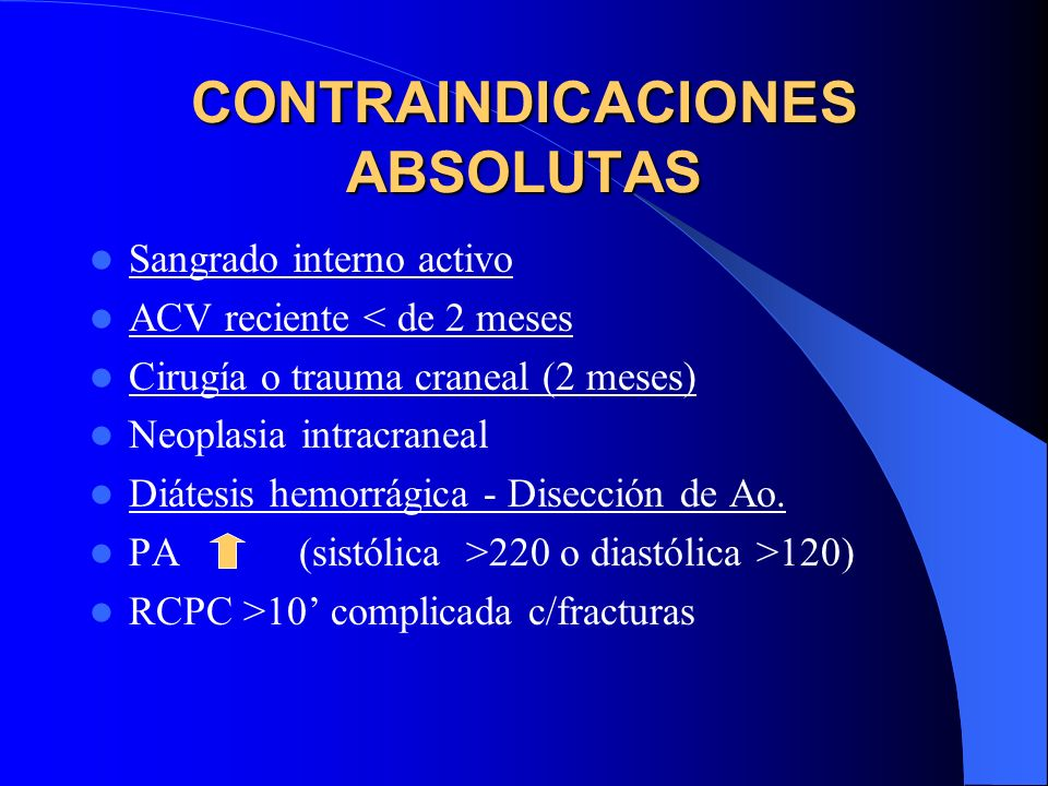 CONTRAINDICACIONES ABSOLUTAS
