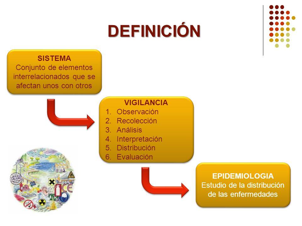 DEFINICIÓN SISTEMA. Conjunto de elementos interrelacionados que se afectan unos con otros. VIGILANCIA.