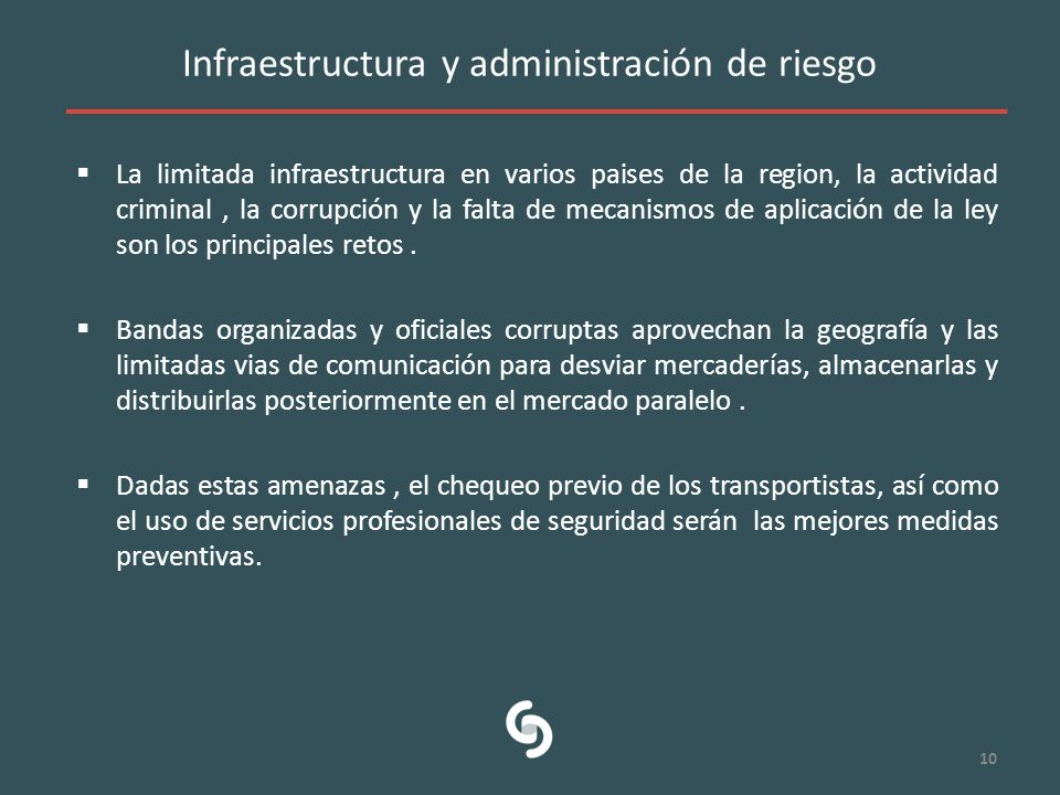 Infraestructura y administración de riesgo
