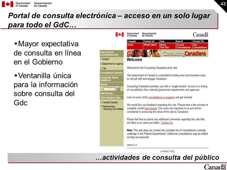 Mayor expectativa de consulta en línea en el Gobierno