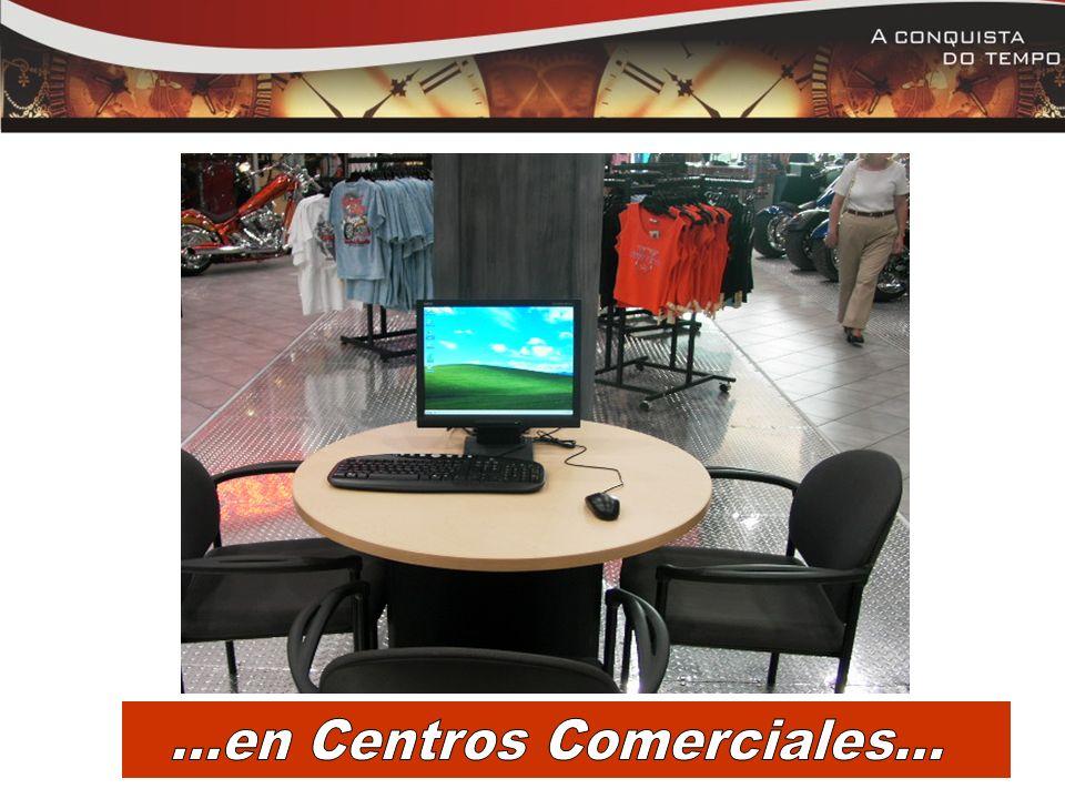 ...en Centros Comerciales...