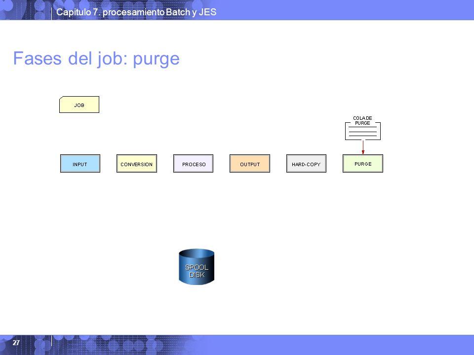 Fases del job: purge Fase de Borrado