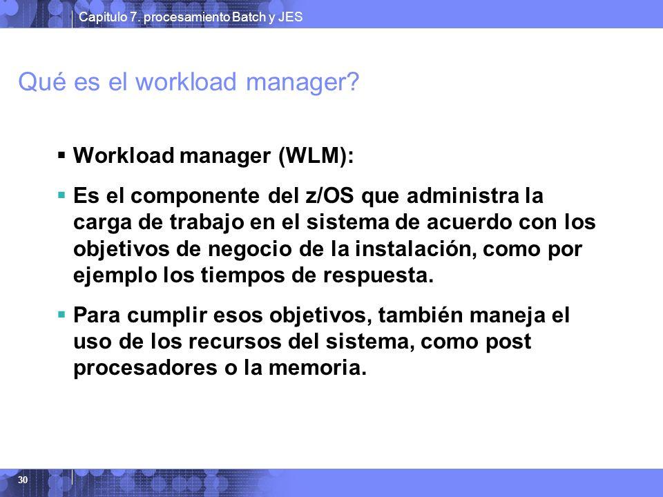 Qué es el workload manager