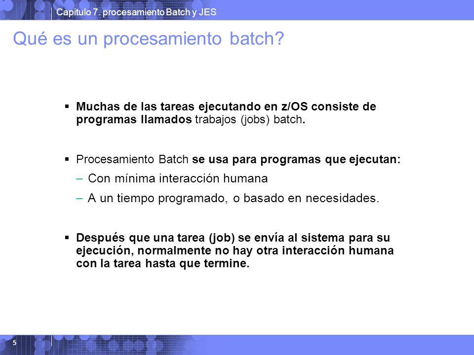 Qué es un procesamiento batch