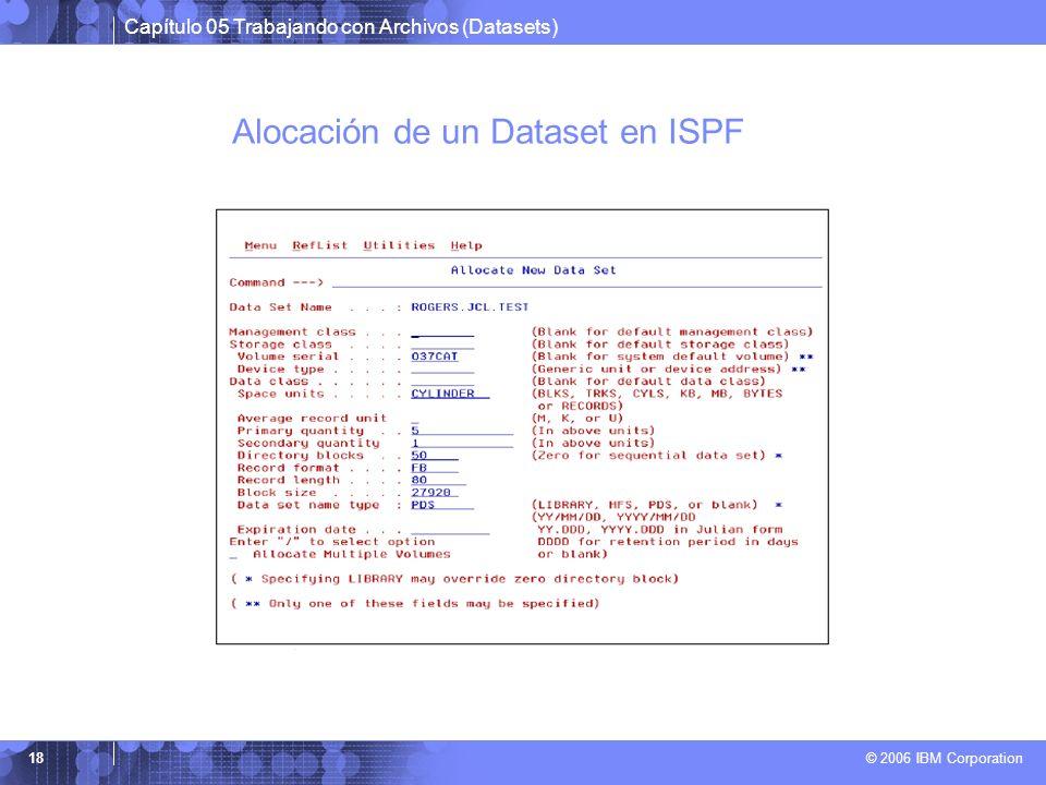 Alocación de un Dataset en ISPF