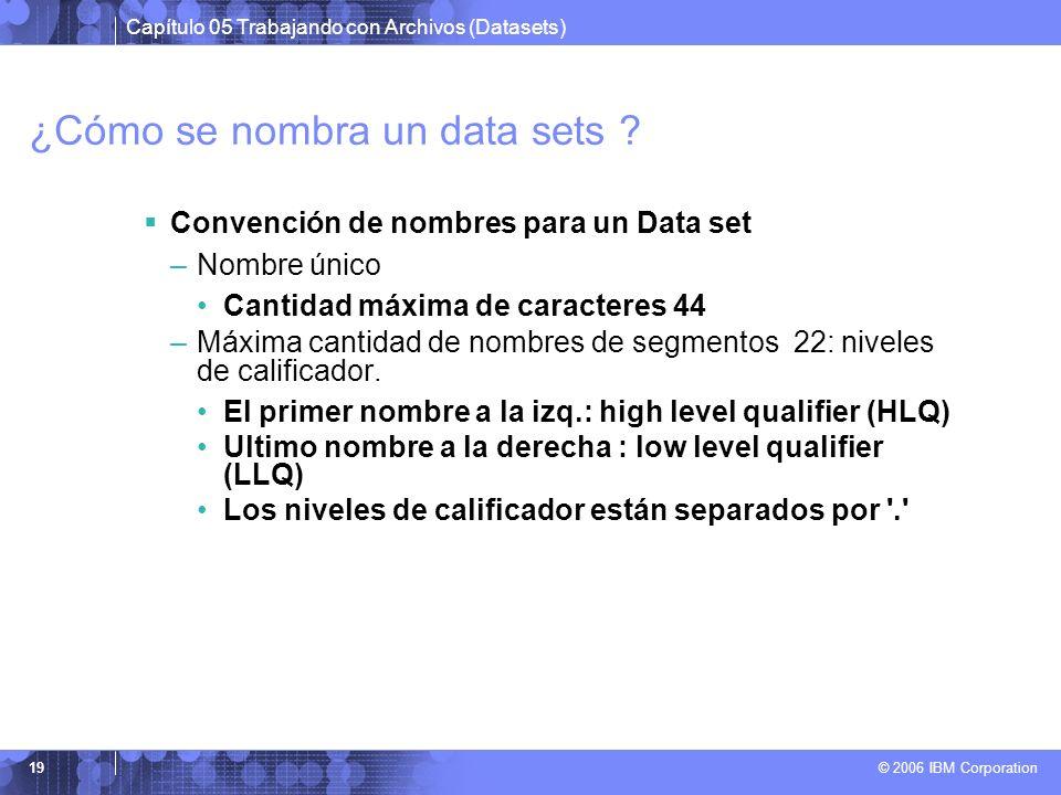 ¿Cómo se nombra un data sets