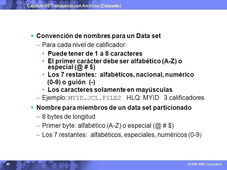Convención de nombres para un Data set