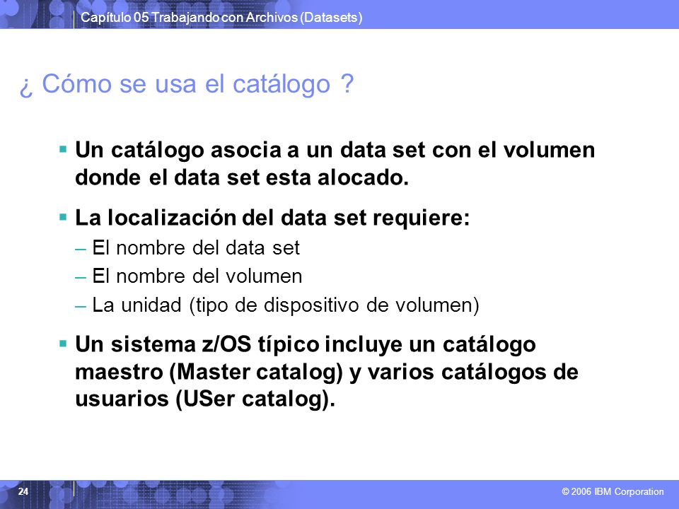 ¿ Cómo se usa el catálogo