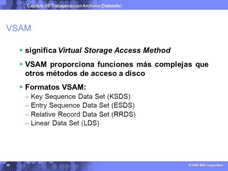 VSAM significa Virtual Storage Access Method