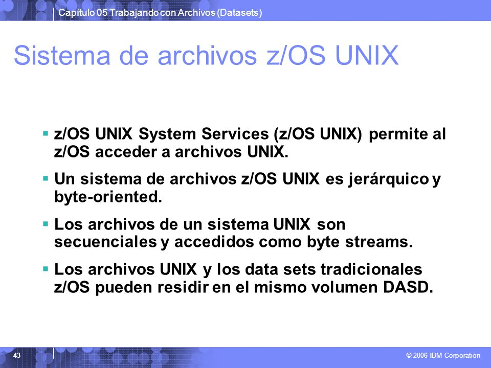 Sistema de archivos z/OS UNIX