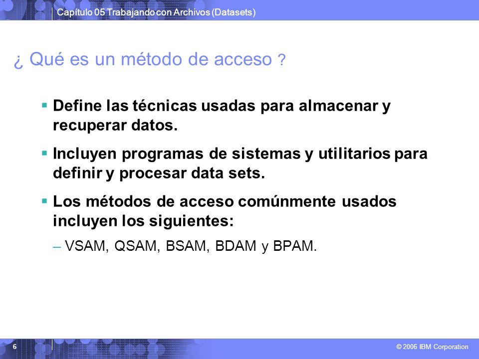 ¿ Qué es un método de acceso