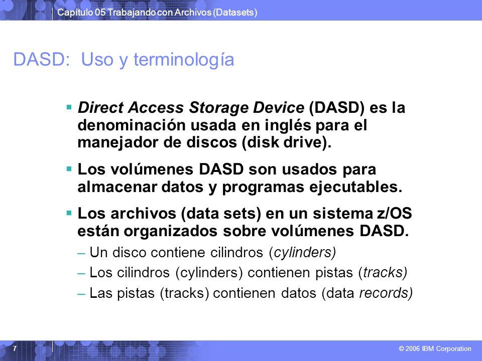 DASD: Uso y terminología