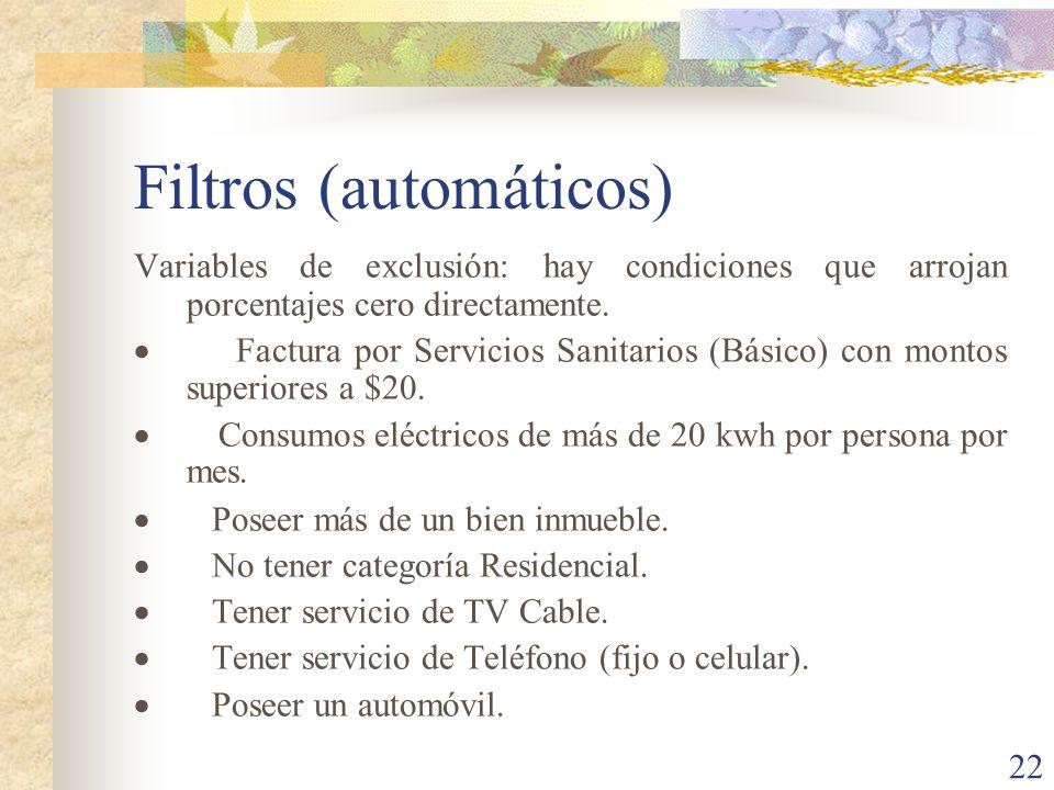 Filtros (automáticos)