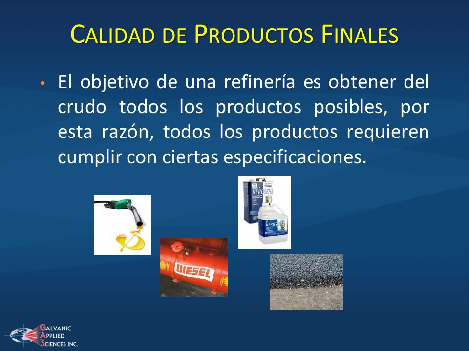 Calidad de Productos Finales