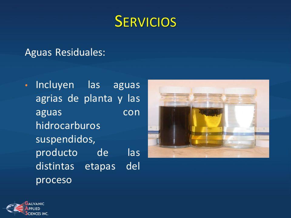 Servicios Aguas Residuales: