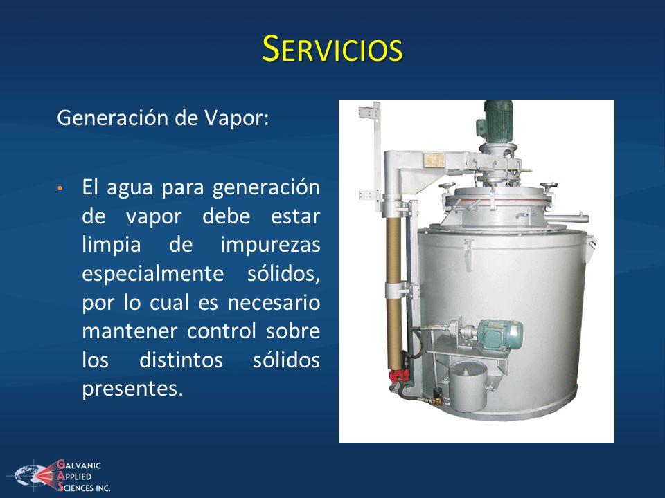 Servicios Generación de Vapor: