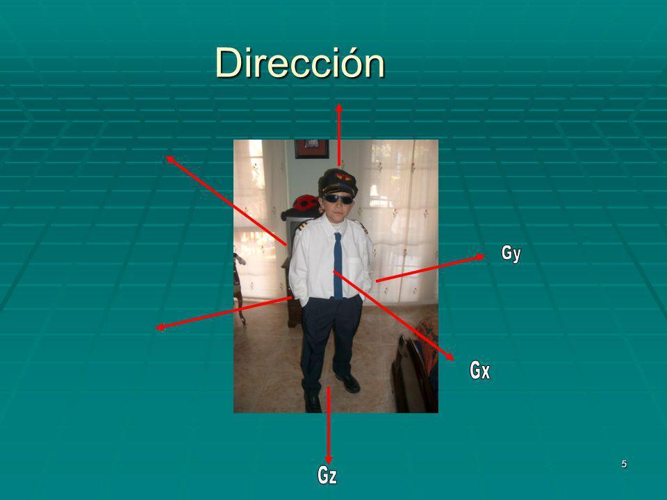 Dirección Gy Gx Gz