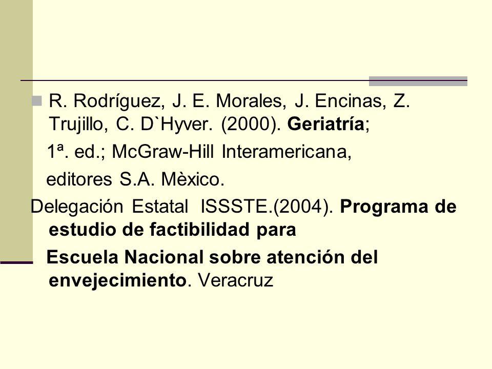 R. Rodríguez, J. E. Morales, J. Encinas, Z. Trujillo, C. D`Hyver