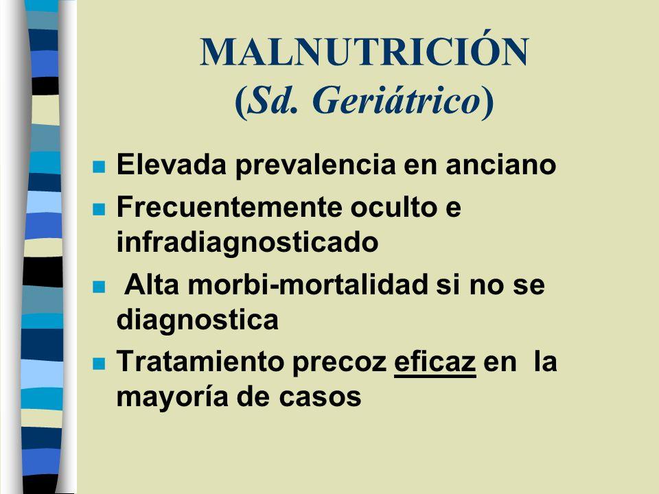MALNUTRICIÓN (Sd. Geriátrico)
