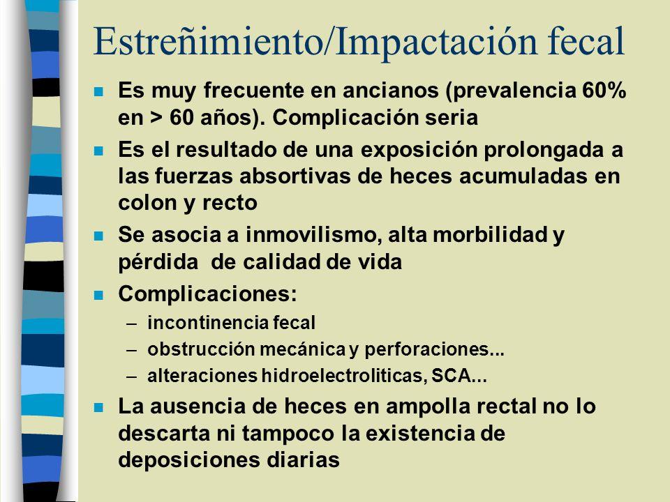 Estreñimiento/Impactación fecal