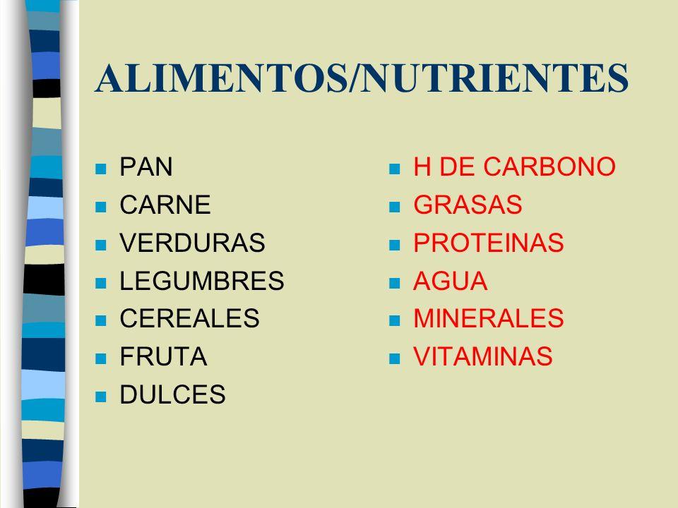 ALIMENTOS/NUTRIENTES