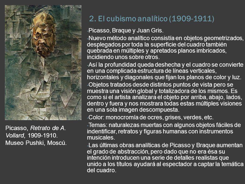 2. El cubismo analítico (1909-1911)