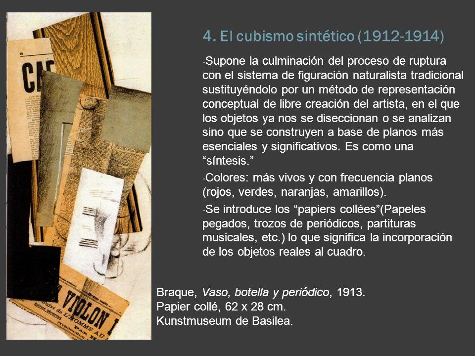 4. El cubismo sintético (1912-1914)