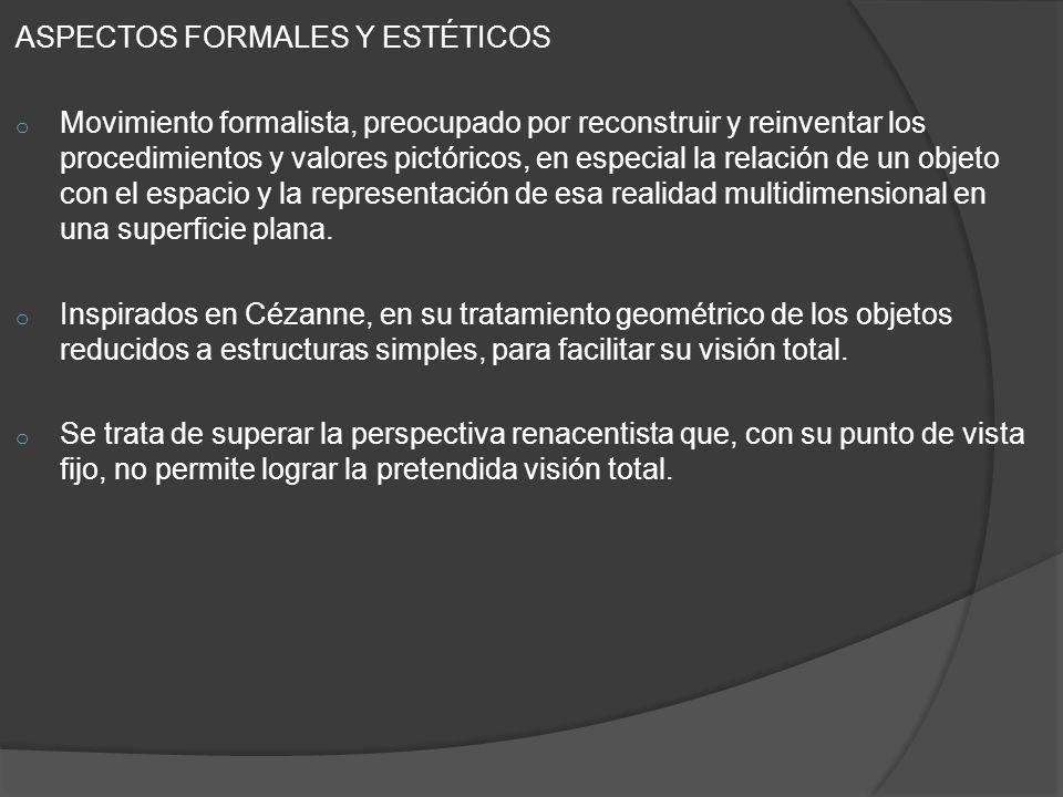 ASPECTOS FORMALES Y ESTÉTICOS