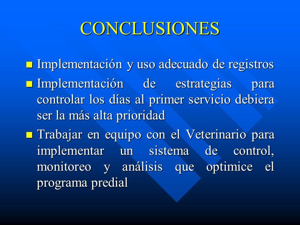 CONCLUSIONES Implementación y uso adecuado de registros