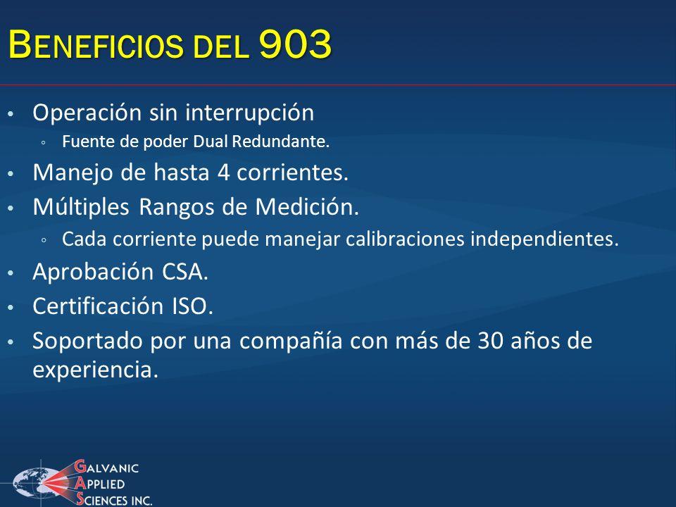 Beneficios del 903 Operación sin interrupción