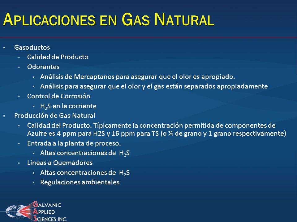 Aplicaciones en Gas Natural