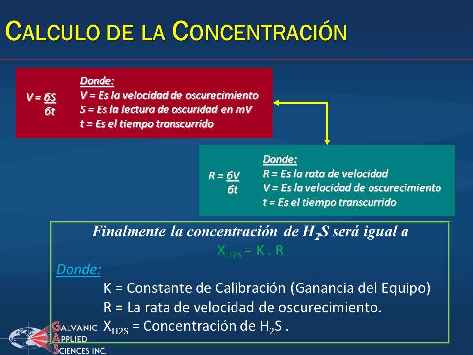 Calculo de la Concentración