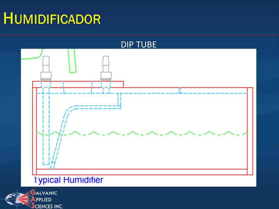 Humidificador DIP TUBE