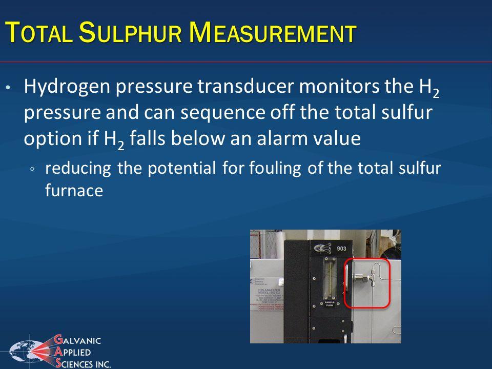 Total Sulphur Measurement