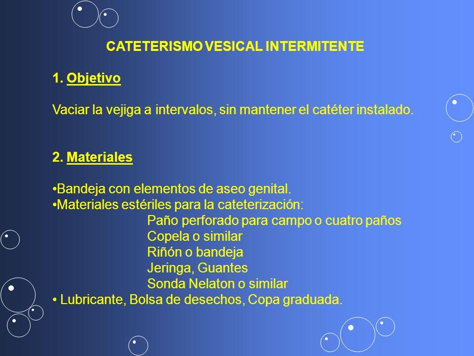 CATETERISMO VESICAL INTERMITENTE