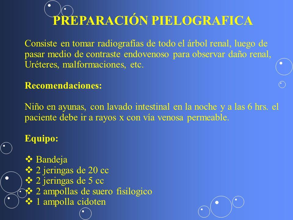 PREPARACIÓN PIELOGRAFICA
