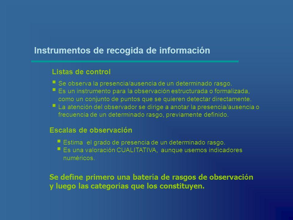 Instrumentos de recogida de información