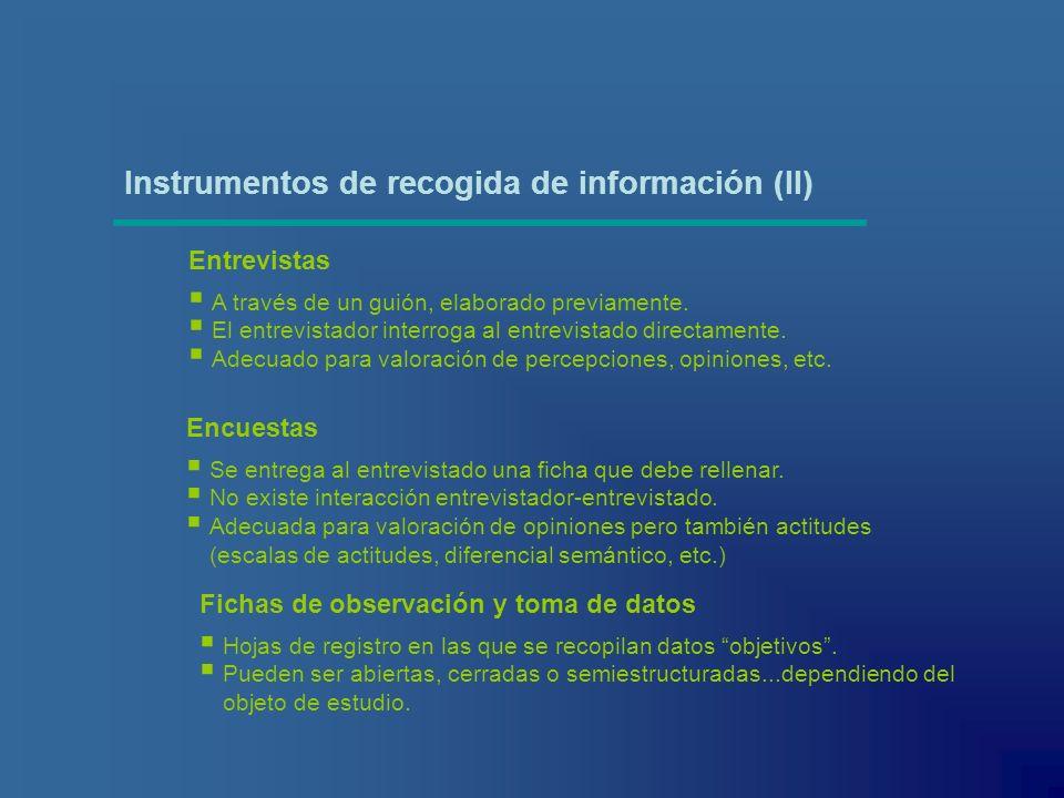 Instrumentos de recogida de información (II)