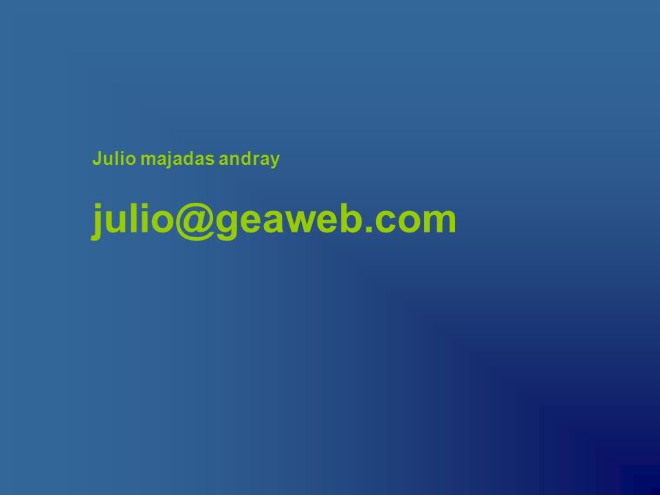 Julio majadas andray julio@geaweb.com