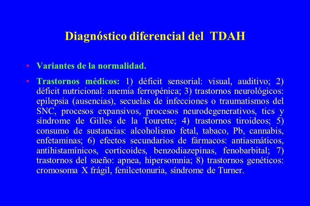 Diagnóstico diferencial del TDAH