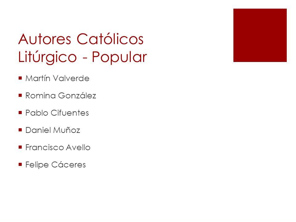 Autores Católicos Litúrgico - Popular