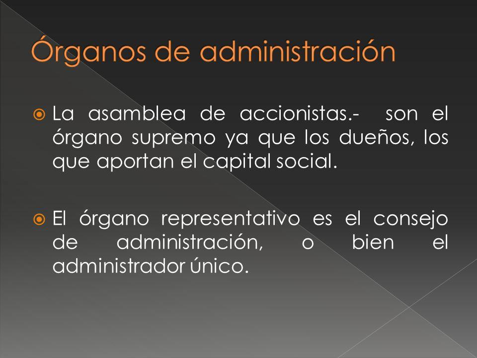Órganos de administración