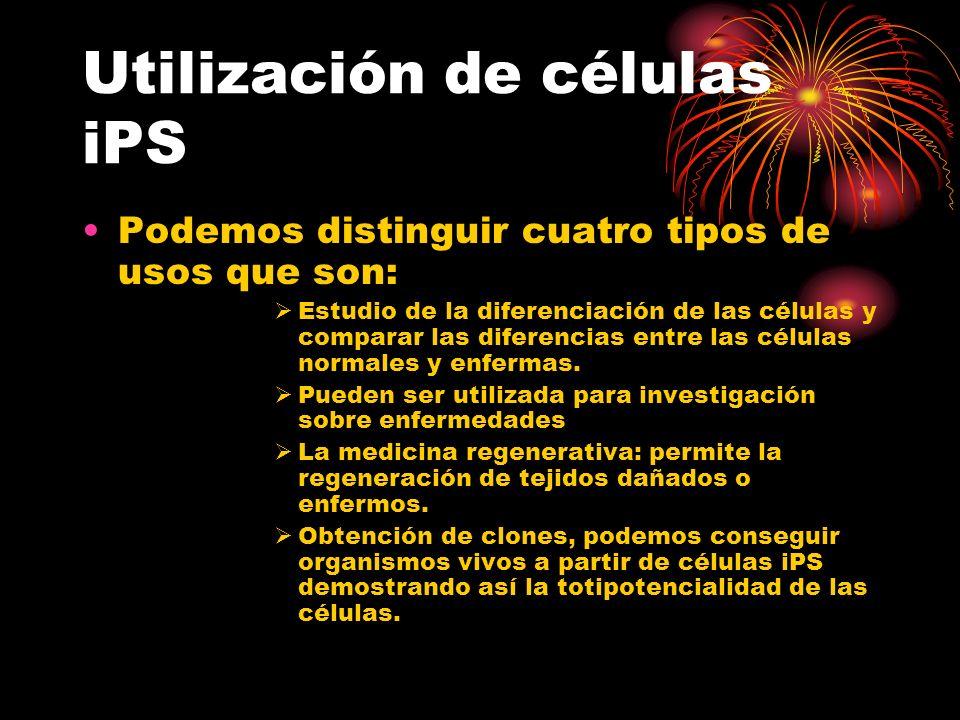 Utilización de células iPS