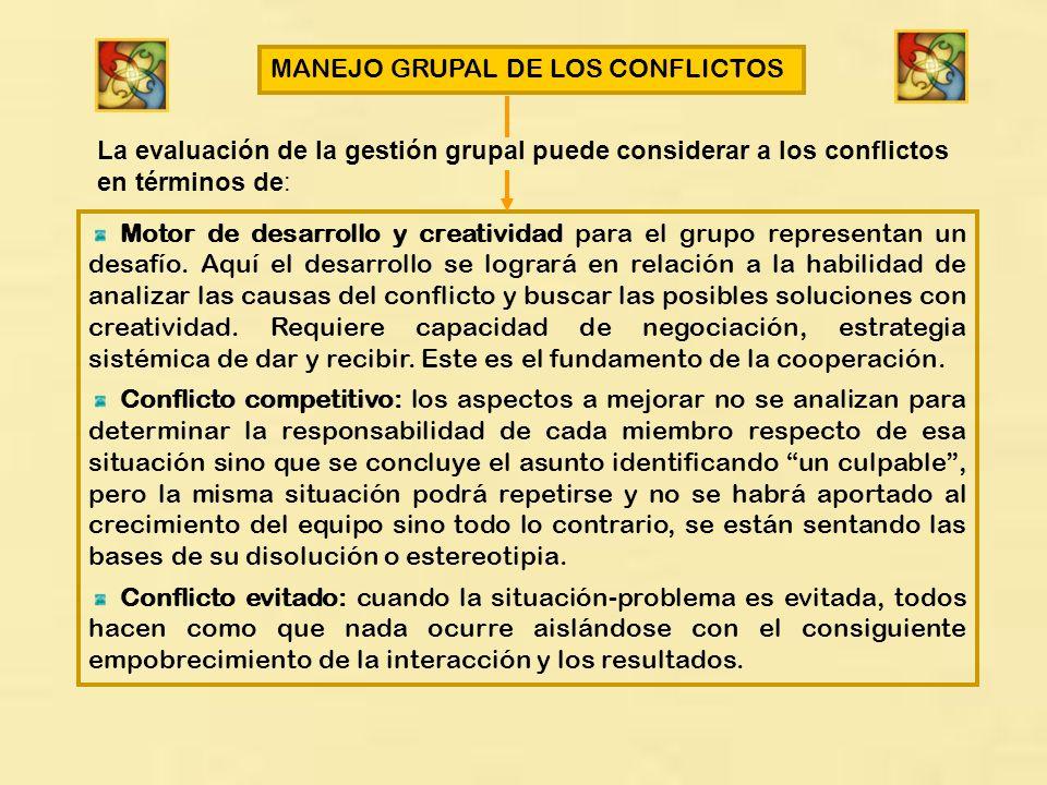 MANEJO GRUPAL DE LOS CONFLICTOS