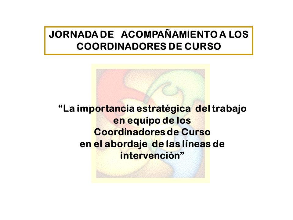 JORNADA DE ACOMPAÑAMIENTO A LOS COORDINADORES DE CURSO
