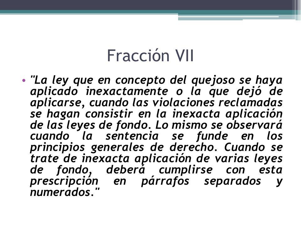 Fracción VII