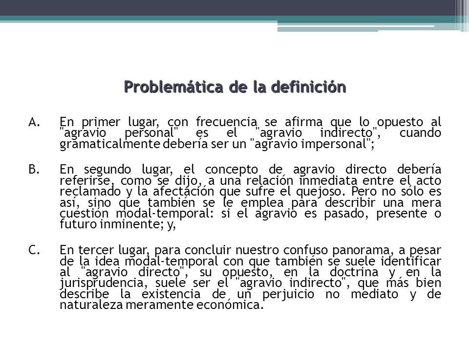 Problemática de la definición