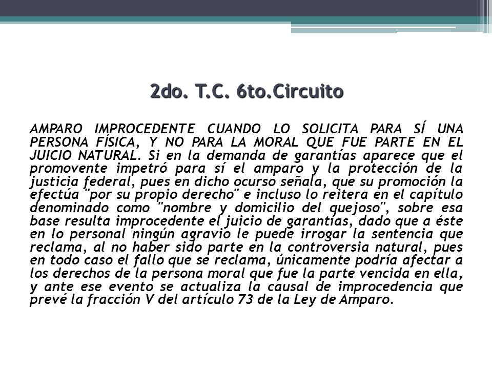 2do. T.C. 6to.Circuito