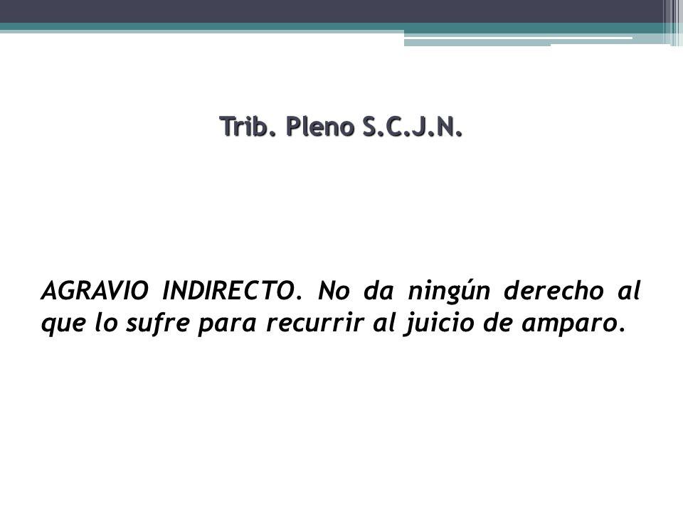 Trib.Pleno S.C.J.N.AGRAVIO INDIRECTO.