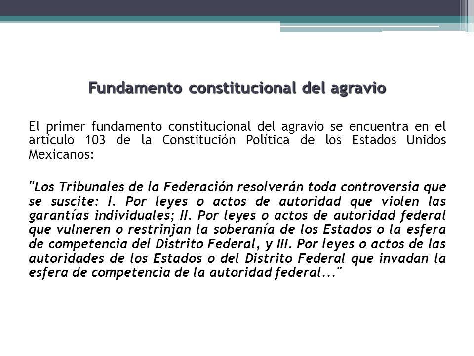 Fundamento constitucional del agravio